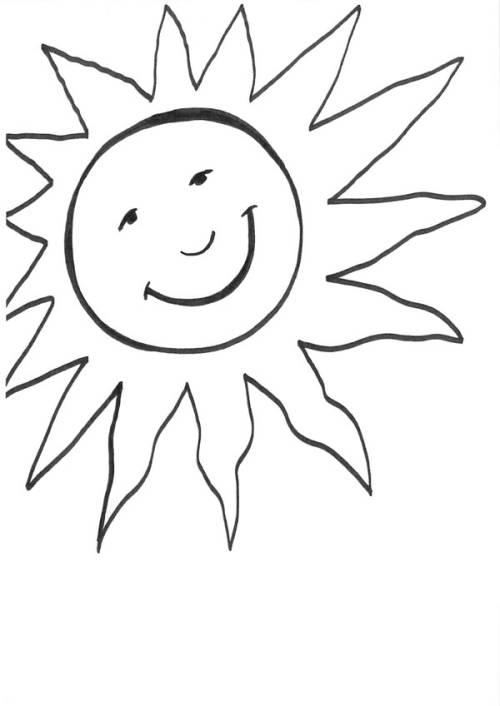 Kostenlose Malvorlage Sonne Große Sonne Zum Ausmalen