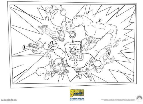 Kostenlose Malvorlage Spongebob Schwammkopf Spongebob Schwammkopf 5
