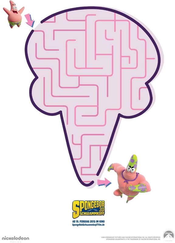 Ausmalbild Labyrinthe Für Kinder Spongebob Patrick Star Kostenlos