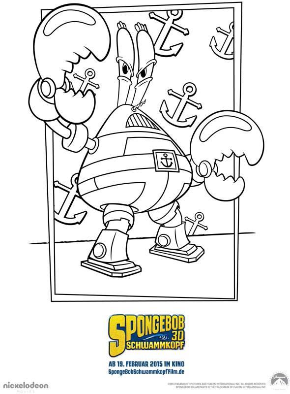 Ausmalbild Spongebob Schwammkopf Spongebob Schwammkopf 2 Kostenlos