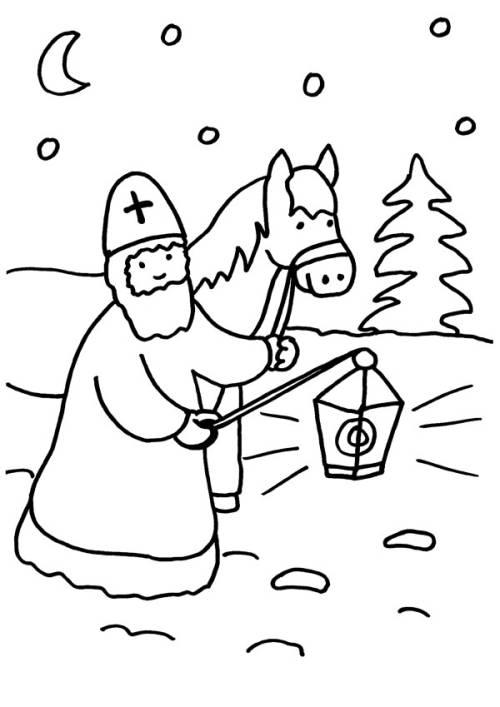 Kostenlose Malvorlage Sankt Martin Sankt Martin Mit Pferd Zum Ausmalen