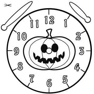 kostenlose malvorlage uhrzeit lernen die uhr lernen ausmalbild halloween k rbis zum ausmalen. Black Bedroom Furniture Sets. Home Design Ideas