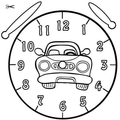 Kostenlose Malvorlage Uhrzeit Lernen Ausmalbild Auto Zum Ausmalen