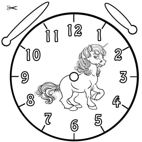 Kostenlose Malvorlage Uhrzeit Lernen Ausmalbild Einhorn Zum Ausmalen