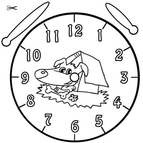 Kostenlose Malvorlage Uhrzeit lernen: Ausmalbild Fina zum Ausmalen