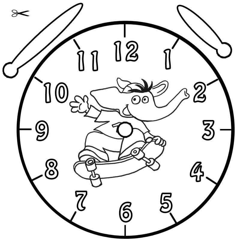 Ausmalbild Uhrzeit Lernen Ausmalbild Bimbo Kostenlos Ausdrucken