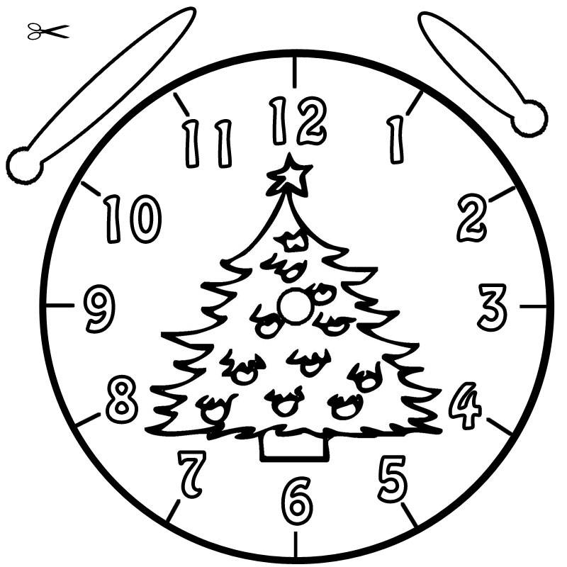 ausmalbild uhrzeit lernen ausmalbild christbaum kostenlos