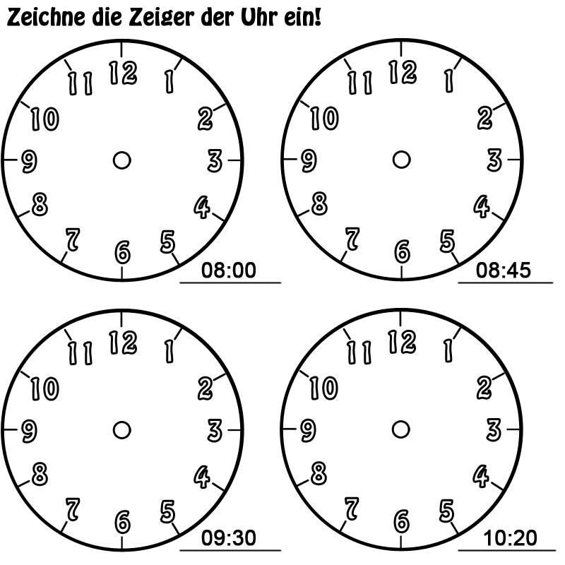 Ausmalbild Uhrzeit Lernen Arbeitsblatt Nr 11 Kostenlos Ausdrucken