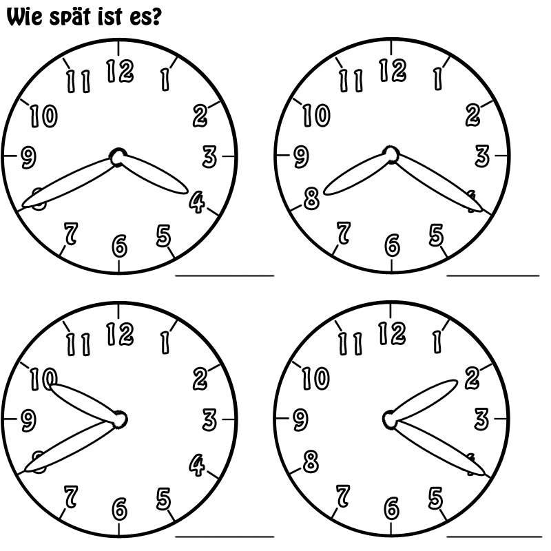 Kostenlose Malvorlage Uhrzeit Lernen Arbeitsblatt Nr 6 Zum Ausmalen