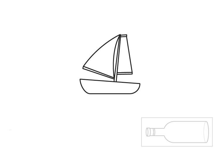 ausmalbild urlaub und reisen flaschenschiff ausmalen