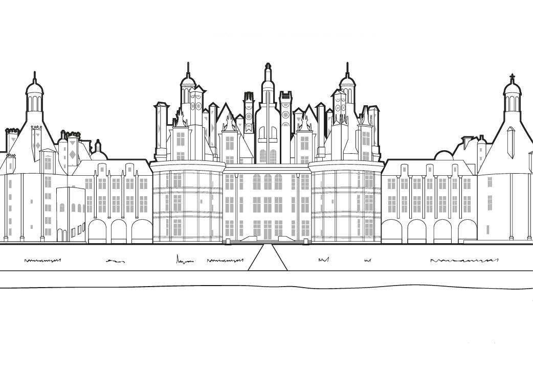 Ausmalbild Urlaub Und Reisen Schloss Chambord Ausmalen Kostenlos
