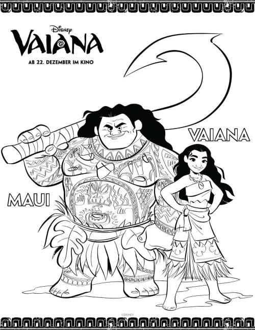 Kostenlose Malvorlage Vaiana Vaiana Und Maui Ausmalen Zum Ausmalen