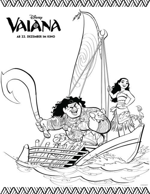 Kostenlose Malvorlage Vaiana Ausmalbild Vaiana Und Maui Zum Ausmalen