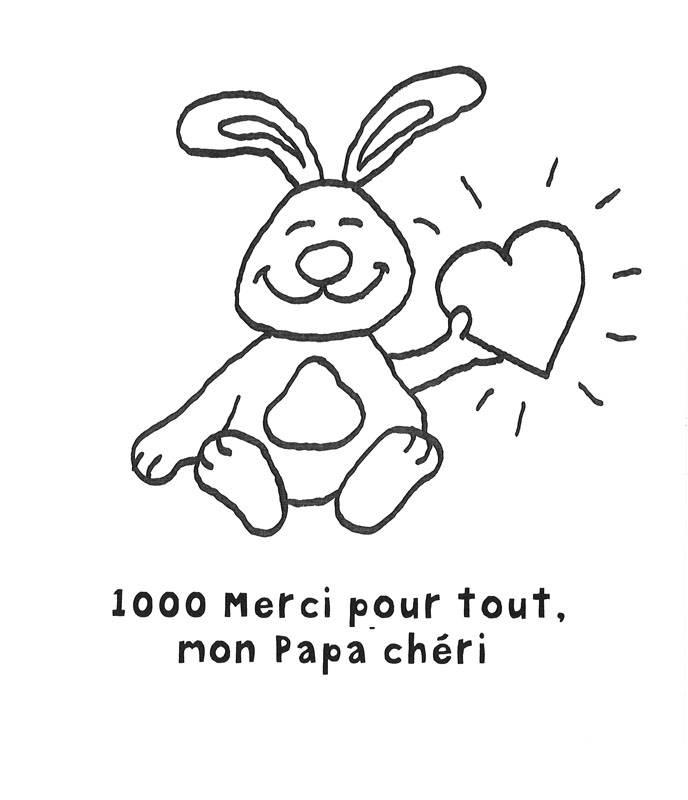 Ausmalbild Vatertag: Hase zum Vatertag - französisch kostenlos ...