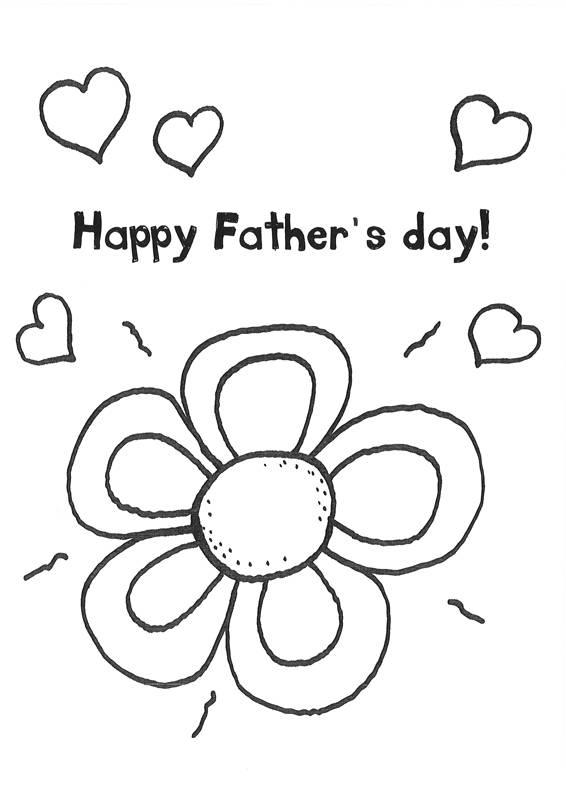 Ausmalbild Vatertag: Blume ausmalen für den Vatertag kostenlos ...