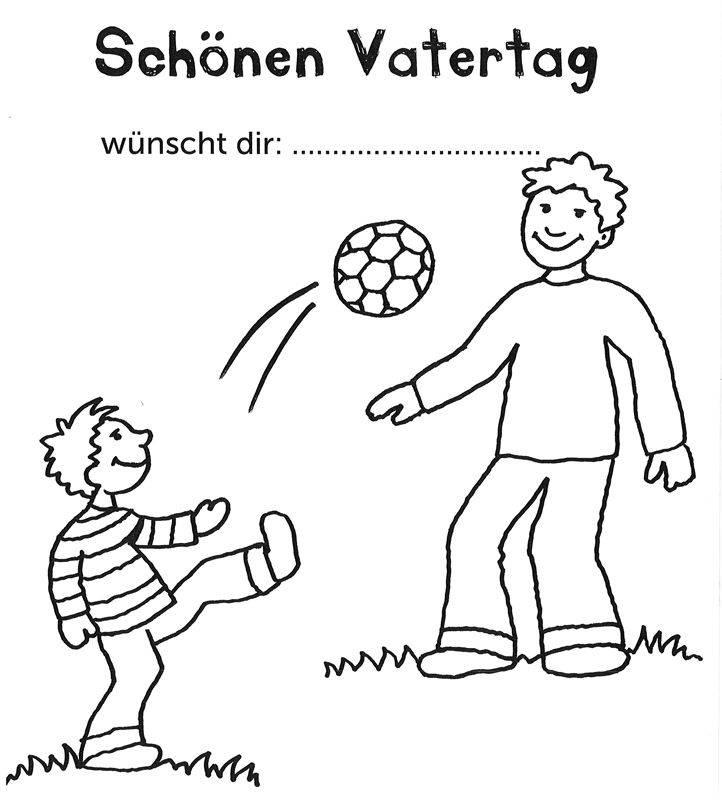 Kostenlose Ausmalbilder und Malvorlagen: Vatertag zum Ausmalen und ...