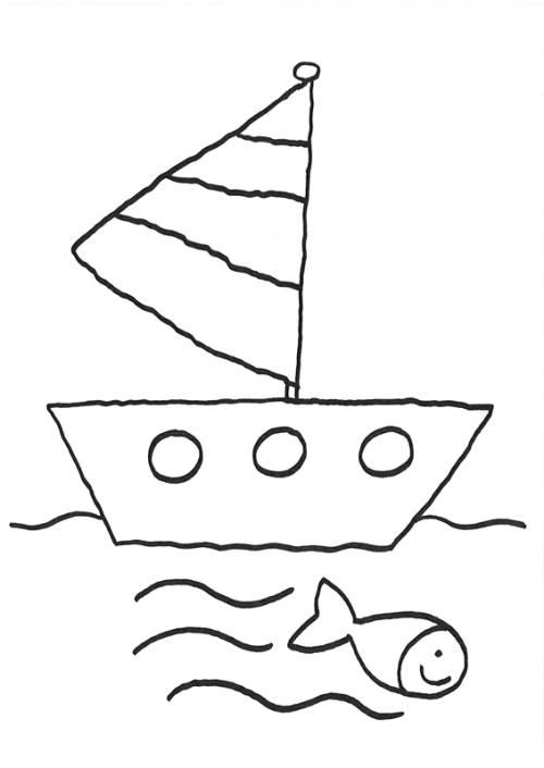 Kostenlose Malvorlage Vatertag Ausflug Mit Schiff Zum Ausmalen