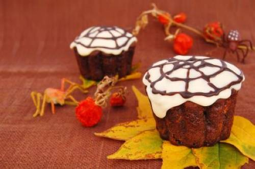 rezepte f r kinder halloween party spinnen muffins. Black Bedroom Furniture Sets. Home Design Ideas
