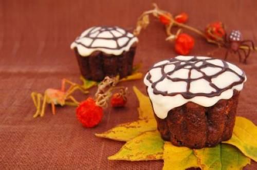 halloween spinnen muffins
