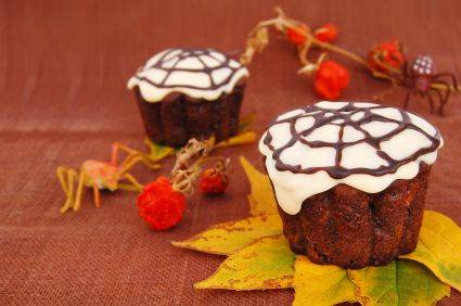 rezepte f r kinder halloween party spinnen muffins. Black Bedroom Furniture Sets. Home Design Ideas