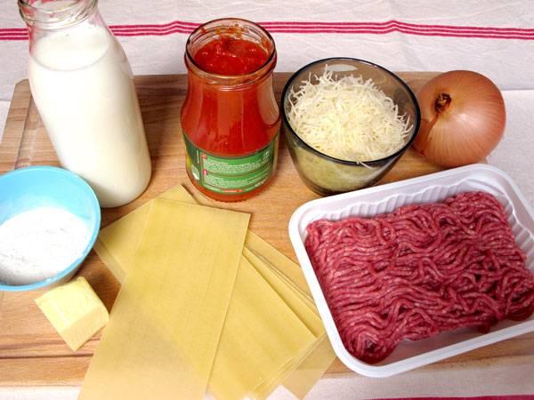 rezepte f r kinder deftige hauptgerichte hackfleisch lasagne mit b chamelso e. Black Bedroom Furniture Sets. Home Design Ideas