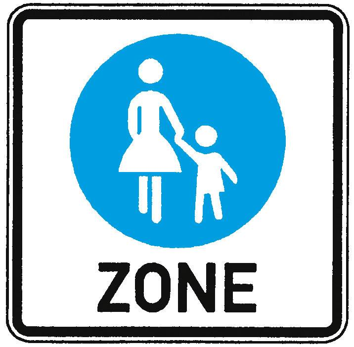 Verkehrserziehung Verkehrsschilder Für Fußgänger