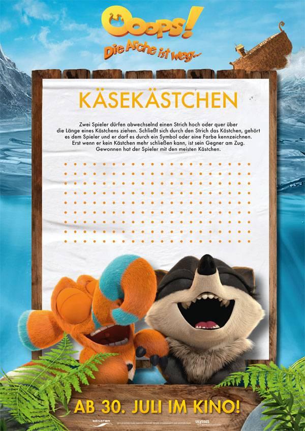 Ausmalbild Bilderkreuzworträtsel und Sudoku: Käsekästchen: Ooops ...
