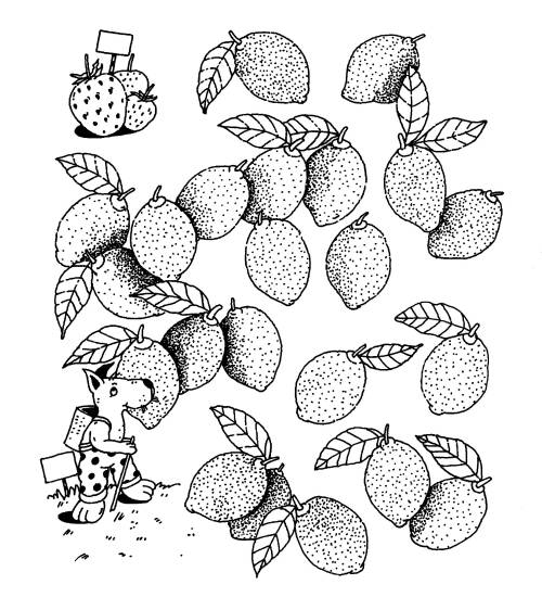 Kostenlose Malvorlage Obst und Gemüse: Zitronen zum Ausmalen zum ...