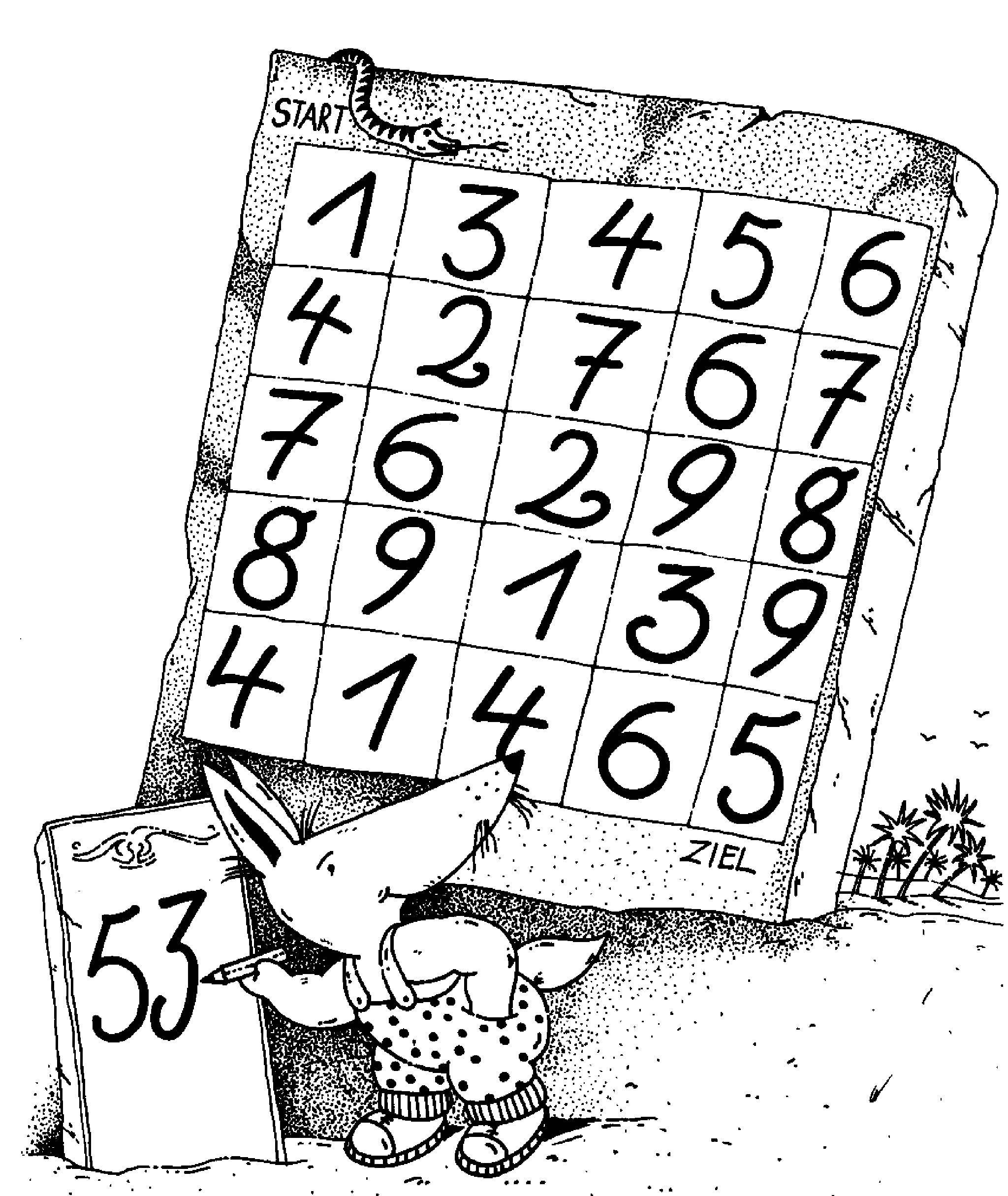 Ausmalbild Bilderkreuzworträtsel und Sudoku: Rechnen für schlaue ...