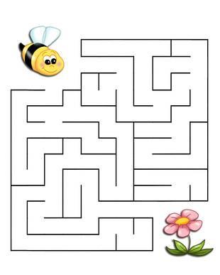 Ausmalbild Labyrinthe Für Kinder Biene Kostenlos Ausdrucken
