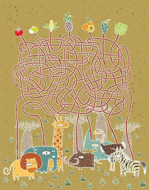 Ausmalbild Labyrinthe Fur Kinder Tiere Kostenlos Ausdrucken