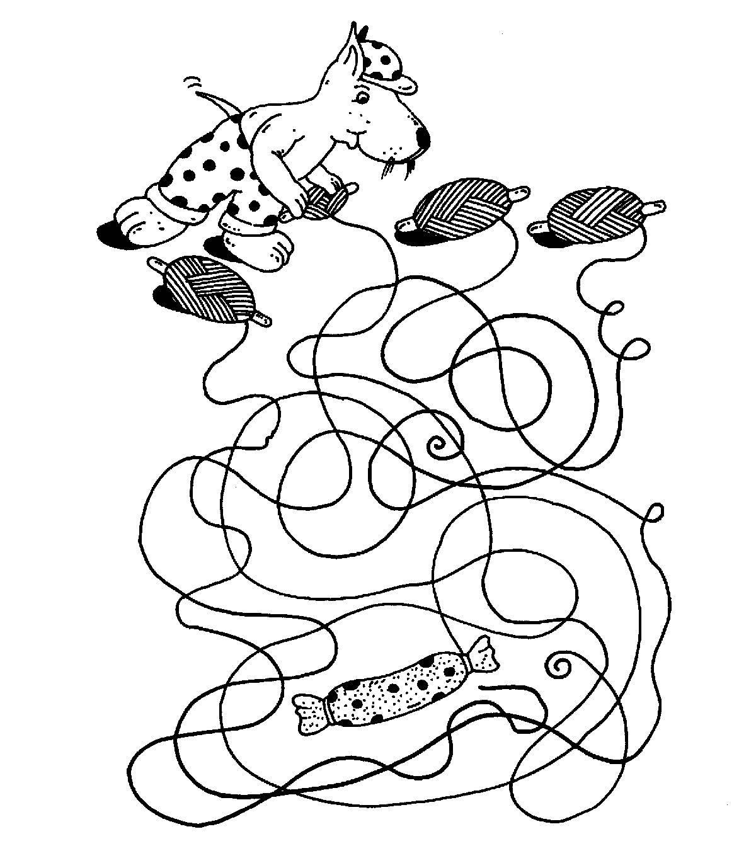 Ausmalbilder Wurst: Ausmalbild Labyrinthe Für Kinder: Wo Geht Es Zur Wurst