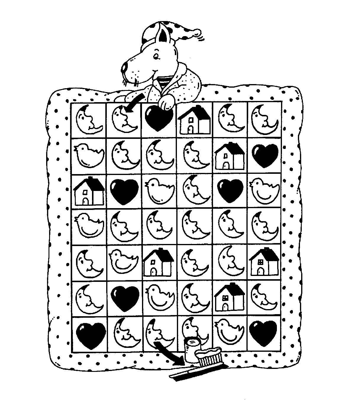 Ausmalbild Bilderkreuzworträtsel und Sudoku: Zahnpflege kostenlos ...
