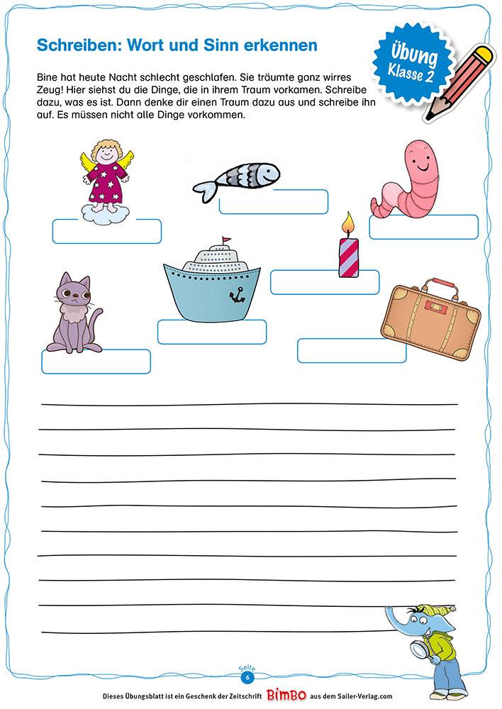 Schreiben Klasse 2 – Die besten Übungen für die Grundschule