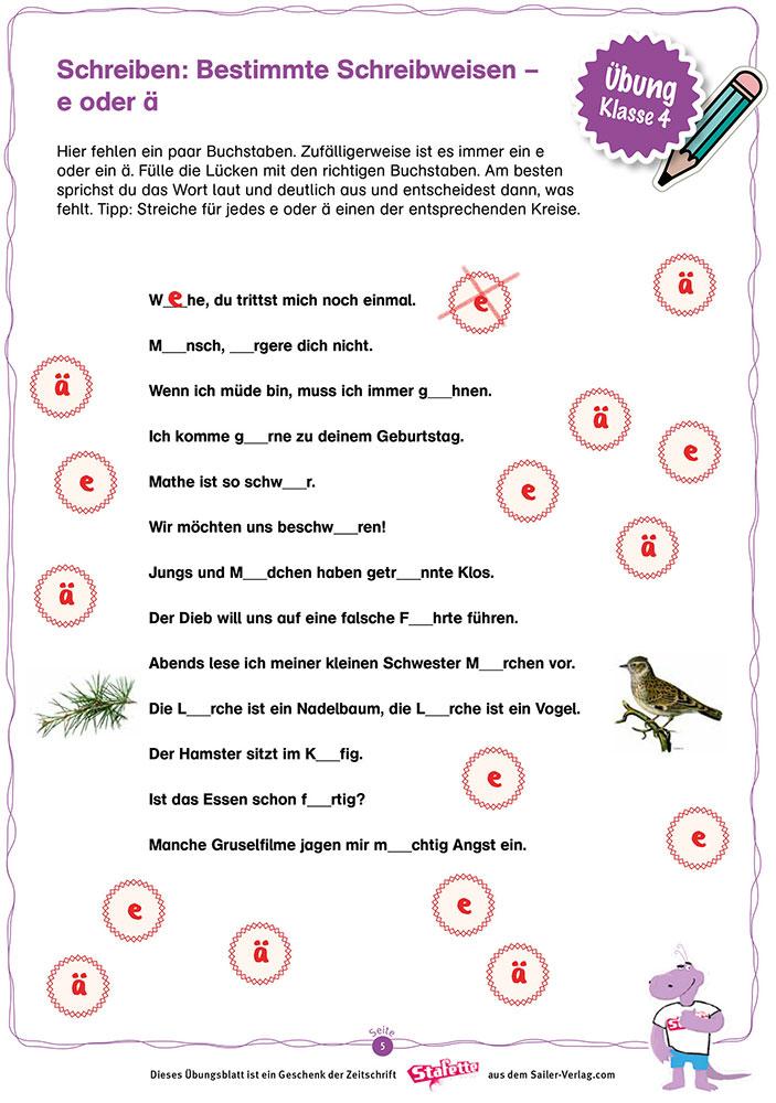 Schreiben Klasse 4 – Die besten Übungen für die Grundschule