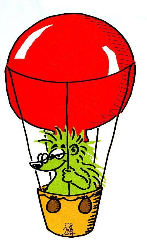 warum fliegt der heißluftballon